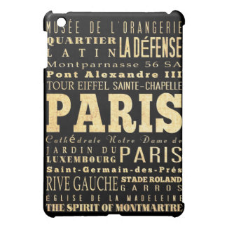 Attractions and Famous Places of Paris,France iPad Mini Cover