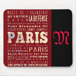 Attractions and Famous Places of Paris France Mouse Pad