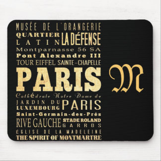 Attractions and Famous Places of Paris France Mousepads