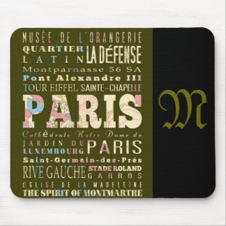 Attractions and Famous Places of Paris France Mousepad