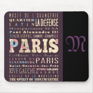 Attractions and Famous Places of Paris France Mouse Pads