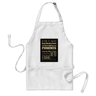 Attractions and Famous Places of Phoenix, Arizona Adult Apron
