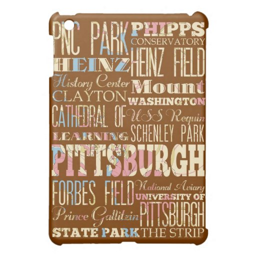 Attractions and Famous Places of Pittsburgh iPad Mini Case