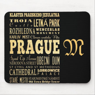 Attractions and Famous Places of Prague Mouse Pad
