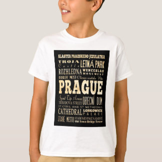 Attractions and Famous Places of Prague T-Shirt