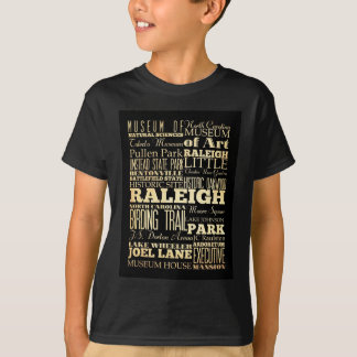 Attractions and Famous Places of Raleigh T-Shirt