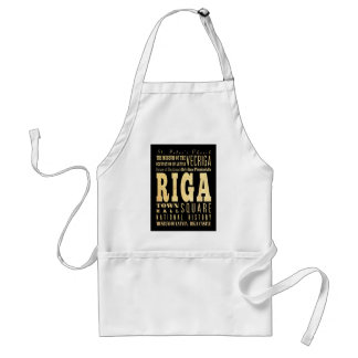 Attractions and Famous Places of Riga, Latvia Adult Apron