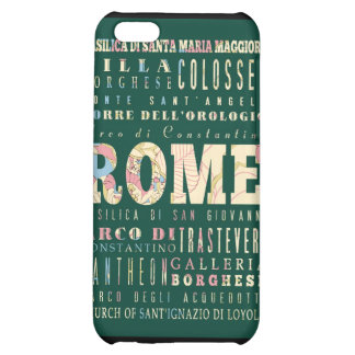 Attractions and Famous Places of Rome, Italy iPhone 5C Case