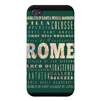 Attractions and Famous Places of Rome, Italy iPhone 4 Covers