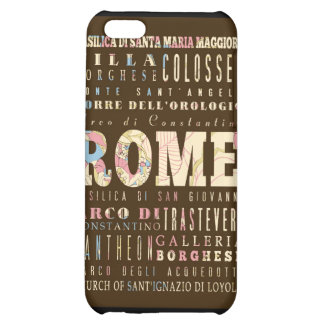 Attractions and Famous Places of Rome, Italy iPhone 5C Cover