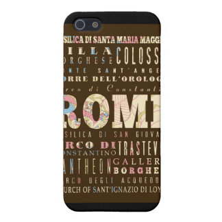 Attractions and Famous Places of Rome, Italy Covers For iPhone 5