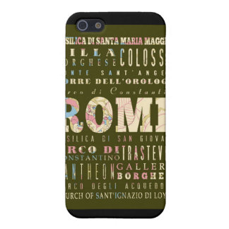 Attractions and Famous Places of Rome, Italy Cover For iPhone 5