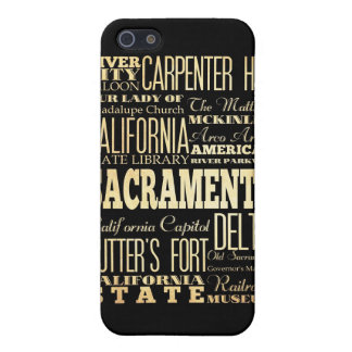 Attractions and Famous Places of Sacramento iPhone SE/5/5s Case