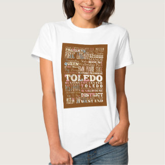 Attractions and Famous Places of Toledo, Spain T-shirt