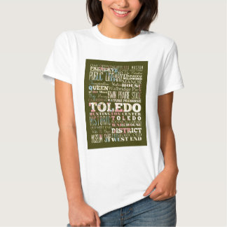 Attractions and Famous Places of Toledo, Spain Tee Shirt