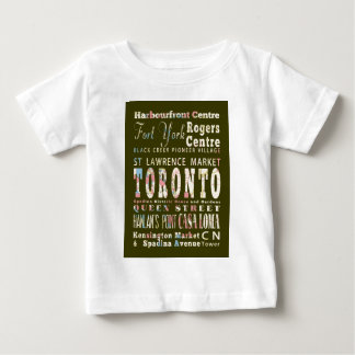 Attractions and Famous Places of Toronto, Canada Baby T-Shirt