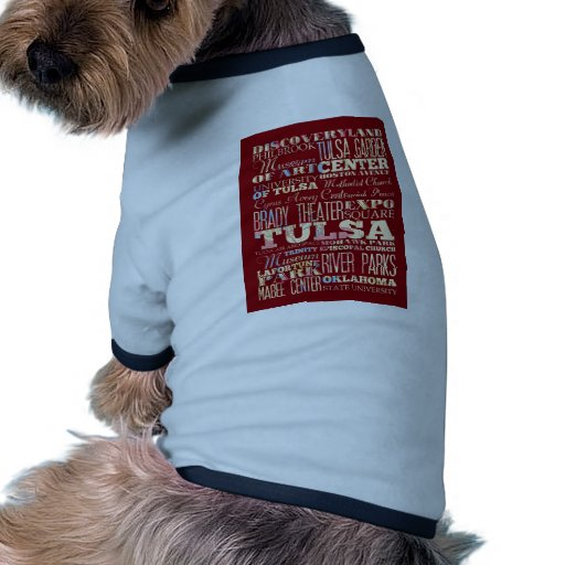 Attractions and Famous Places of Tulsa, Oklahoma Doggie T-shirt