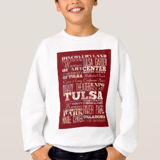 Attractions and Famous Places of Tulsa, Oklahoma Sweatshirt