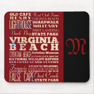 Attractions and Famous Places of Virginia Beach Mousepads
