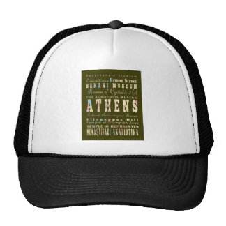 Attractions & Famous Places Athens, Greece Trucker Hat