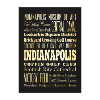 Attractions & Famous Places  Indianapolis Canvas Print