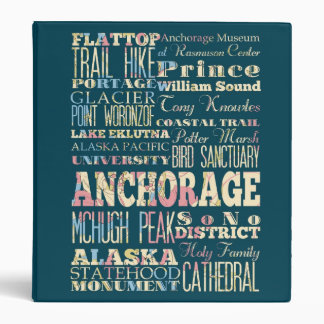 Attractions & Famous Places of Anchorage, Alaska. Binder