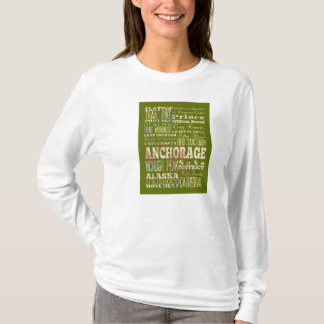 Attractions & Famous Places of Anchorage, Alaska. T-Shirt