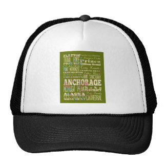 Attractions & Famous Places of Anchorage, Alaska. Trucker Hat