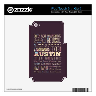 Attractions & Famous Places of Austin, Texas. Skin For iPod Touch 4G