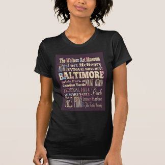 Attractions & Famous Places of Baltimore, Maryland Shirts