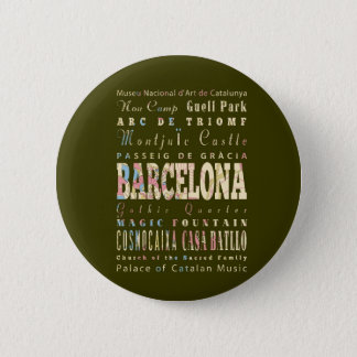 Attractions & Famous Places of Barcelona, Spain. Button