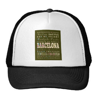 Attractions & Famous Places of Barcelona, Spain. Trucker Hat