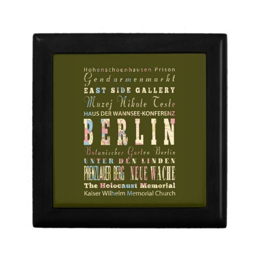Attractions & Famous Places of Berlin,Germany. Gift Box