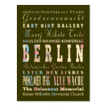 Attractions & Famous Places of Berlin,Germany. Postcard