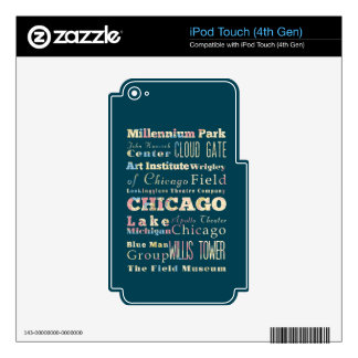 Attractions & Famous Places of Chicago, Illinois. Decal For iPod Touch 4G