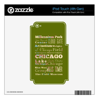 Attractions & Famous Places of Chicago, Illinois. iPod Touch 4G Decals