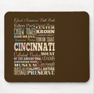 Attractions & Famous Places of Cincinnati, Ohio. Mouse Pad