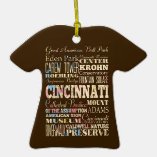 Attractions Famous Places of Cincinnati Ohio Ornaments