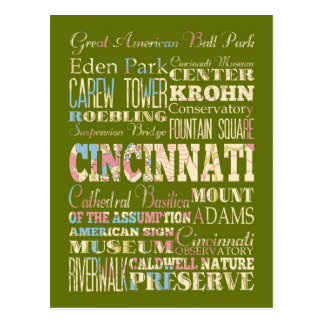 Attractions Famous Places of Cincinnati Ohio Post Cards