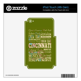 Attractions & Famous Places of Cincinnati, Ohio. iPod Touch 4G Decals