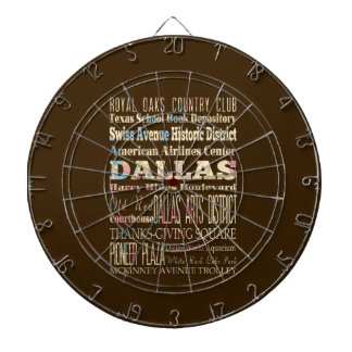 Attractions & Famous Places of Dallas, Texas. Dartboard With Darts