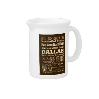 Attractions & Famous Places of Dallas, Texas. Drink Pitchers