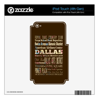 Attractions & Famous Places of Dallas, Texas. Skin For iPod Touch 4G