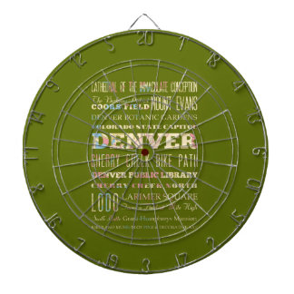 Attractions & Famous Places of Denver, Colorado. Dartboard With Darts