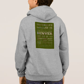 Attractions & Famous Places of Denver, Colorado. Hoodie