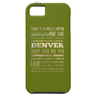 Attractions & Famous Places of Denver, Colorado. iPhone SE/5/5s Case