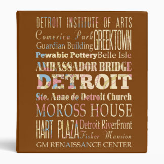 Attractions & Famous Places of Detroit, Michigan. Binder