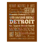 Attractions & Famous Places of Detroit, Michigan. Post Cards
