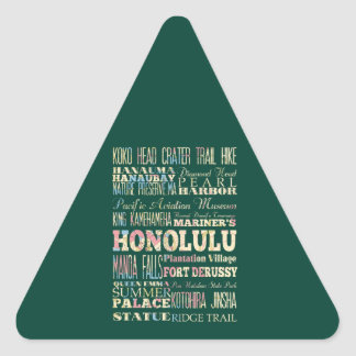 Attractions & Famous Places of Honolulu, Hawaii. Stickers