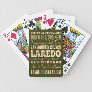 Attractions & Famous Places of Laredo, Texas. Bicycle Playing Cards